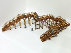 A review of the Base-0Level 1 and 2 Walkway kits from Systema Gaming, laser-cut MDF terrain compatible with wargames such as Warhammer 40k and Infinity.