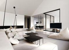 Single-family house interior design, Warsaw by Tamizo Architects