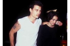 Winona Ryder e Johnny Depp, 1990