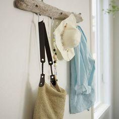 Driftwood becomes coat rack