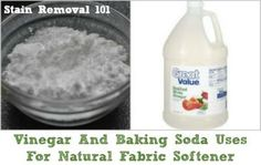 Douglas has shared how he uses both vinegar and baking soda in his laundry, as natural fabric softener and deodorizer rolled into one.Douglas says:I am