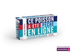 Monoprix détourne avec brio ses emballages pour promouvoir son site Internet