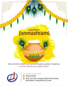 Graphic Design Flyer, Graphic Design Services, Business Logo Design, Brand Identity Design, Flyer Design, Happy Janmashtami Image, Janmashtami Images, Janmashtami Wishes, Greetings Images