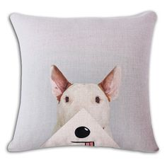 Foodie Bull Terrier Funny Pillow Case