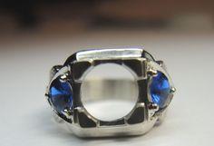 Antique Engagement Ring Setting 14K Hold 9mm Ring Size 8 UK-P1/2 Art Deco Estate #FILIGREEENGAGEMENTRING