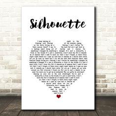 Tom Odell Silhouette White Heart Song Lyric Art Print