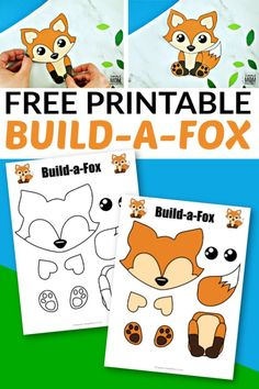 Click and get these adorable woodland or arctic fox templates to make this free and easy build-a-fox craft. He is perfect for kids of all ages; including preschoolers, kindergartners and toddlers! Forest Animal Crafts, Farm Animal Crafts, Fox Crafts, Animal Crafts For Kids, Crafts For Kids To Make, Cute Crafts, Craft Stick Crafts, Toddler Crafts, Nature Crafts