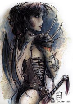 Di Terlizzi Tiefling - Seems darkish, with fits with ice and snow and the Raven Queen