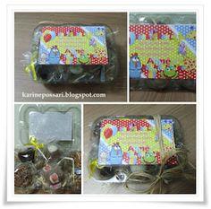 caixa de ovos de acetato com guloseimas - festa Galinha Pintadinha