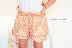 Fold and Flap short PDF pattern and tutorial by CaliFayeCollection