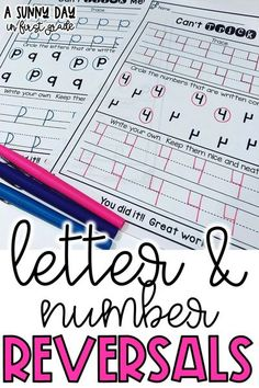 Do your kiddos reverse some of their letters or numbers? These number and letter reversal printables are a great way to work on those tricky reversals! These pages give them practice tracing, identifying numbers and letters written correctly, and writing their own. Preloaded into Seesaw!