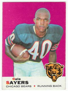 1969 Topps Gale Sayers Chicago Bears Football Card for sale online Bears Football, Football Players, Football Uniforms, Alabama Football, Football Season, American Football, Baseball, Football Trading Cards, Football Cards