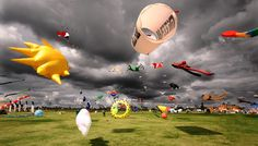 This Photo Of a Kite Festival Taken In Southsea, Portsmouth
