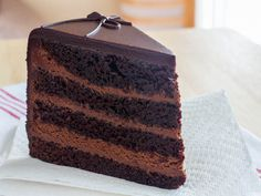 The Dark Knight Cake (Triple Chocolate Layer Cake) | Serious Eats : Recipes