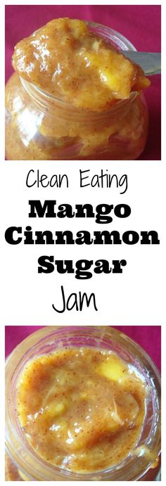 #healthy #Cleaneating Mango Cinnamon-Sugar Jam! The perfect spread on toast, waffles, pancakes, ice cream, yogurt, you name it! The possibilities are endless! #paleo #vegan
