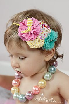 Baby Girl Headbands..Baby Headbands..M2M Matilda Jane Headband..Good Hart Headband..Photography Prop