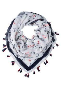 Even&odd Pañuelo White Navy Red Pañuelos Y Bufandas De Mujer Desde el siglo 18, las mujeres se adornan con bufandas y pañuelos para embellecer y modernizar sus looks.