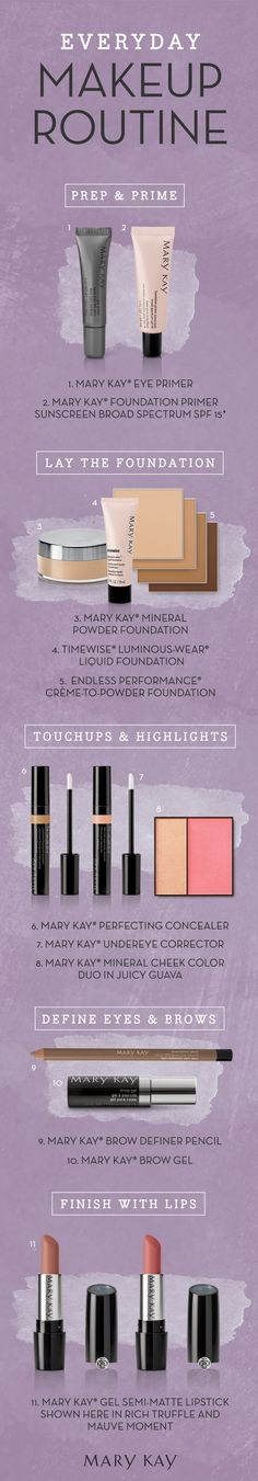 Our go-to Mary Kay makeup routine, everyday! Discover some everyday must-haves, from skincare prep to finishing touches. | Mary Kay