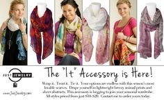 Add a scarf to your style!  www.justjewelry.com/sarasapp