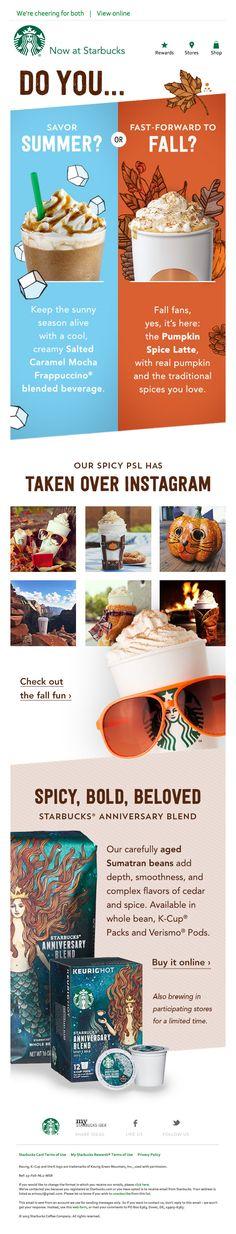 Starbucks Newsletter Ideas #email #food
