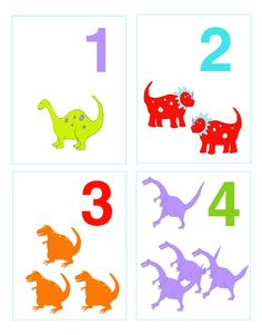 Dinosaur Number Flash Cards - could do a DIY version