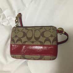 Coach Wristlet I've had this Wristlet for a while. It's been used and has no stains! Great for holding cards, cash and a small amount of makeup. No trades. Coach Bags Clutches & Wristlets