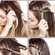 How to braid hair, step by step