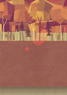 Retro vibe. matthew lyons #landscape #illustration #color