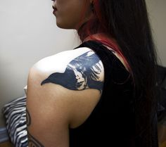 Raven Tattoo on Back for Women - 60  Mysterious Raven Tattoos  <3 <3