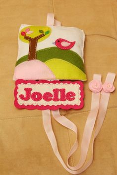 add name under hair clip holder motif
