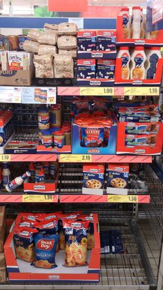 American food in a Spanish supermarket.