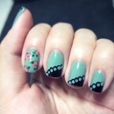 Four fun nail designs to try! (pic via the glass facade)