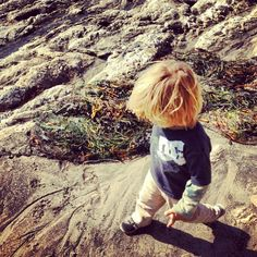 Exploring California beaches with son Dakota