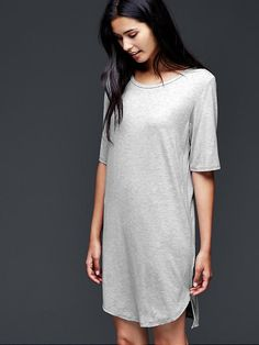 Pure Body Essentials t-shirt dress - Softest necessities in classic neutrals to layer and love.