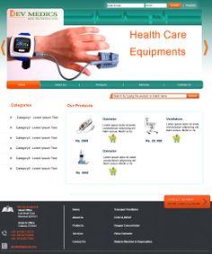 Website Design sample for Medical Equipment Supplier
