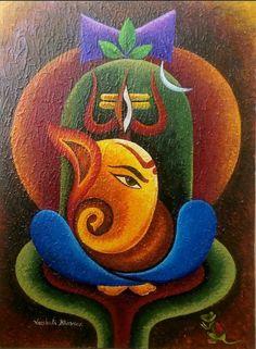 62 Ideas Fitness Photography Gym Beauty Rangoli designs diwali beauty Designs d. Ganesha Drawing, Lord Ganesha Paintings, Lord Shiva Painting, Buddha Painting, Ganesha Art, Krishna Painting, Mural Painting, Mural Art, Ganesha Rangoli