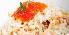 Risotto au saumon et fromage de chèvre