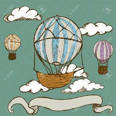 old style hot air balloon drawing - Google Search