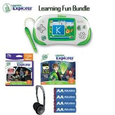 http://goo.gl/Fqe7o. Leapfrog Leapster 39100 Explorer Green Game System Learning Sports And Play Bundle