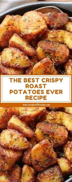 The Best Crispy Roast Potatoes Ever Recipe # das beste knusprige bratkartoffel-rezept aller zeiten The Best Crispy Roast Potatoes Ever Recipe # Italian breakfast recipes. Red Potato Recipes, Vegetable Recipes, Vegetarian Recipes, Cooking Recipes, Crispy Roast Potatoes, Herb Roasted Potatoes, Roasted Potatoes Breakfast, How To Roast Potatoes, Best Potatoes For Roasting