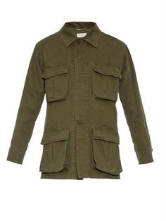 Saint Laurent- matchesfashion - cotton utility shirt