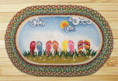 Earth Rugs Flip Flops Oval Patch Braided Area Rugs Are A Great Addition For Your Home Or Cabin For That Great Country Feeling!!!! ON SALE NOW!!!!