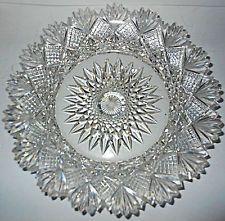"Set of 8 FAB Antique Sparkling American Brilliant Cut Glass 7 & 1/4"" Plates"