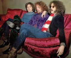Cream left to right, Jack Bruce, Ginger Baker, Eric Clapton