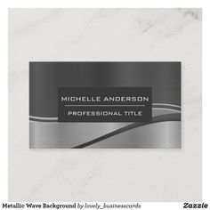 Metallic Wave Background Business Card