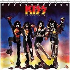 KISS - Shower Curtain - Band