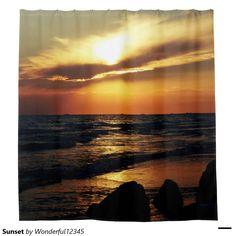 #Sunset #Shower #Curtain