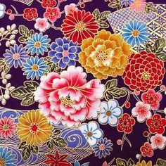 Japanese Textiles, Japanese Patterns, Japanese Prints, Japanese Design, Japanese Flowers, Japanese Paper, Japanese Fabric, Japanese Kimono, Japan Illustration