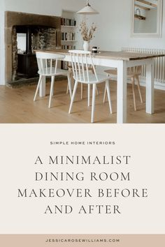 Minimalist Living Tips, Minimalist Dining Room, Minimalist Home Interior, Living At Home, Slow Living, Cottage Dining Rooms, Rose Williams, Jessica Rose, Minimal Home
