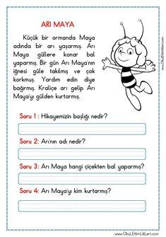 OKUMA ANLAMA METNİ – ARI MAYA pdf formatında özgün bir çalışma olarak hazırlanmıştır. Aşağıda bulunan linkten kolayca indirebilirsiniz. Tüm çalışmalarımızı kendi emeklerimizle özgün olarak hazırlıyoruz.. First Grade, Grade 1, Activity Games, Activities, Cbt Worksheets, Turkish Language, Arabic Language, Learn Turkish, Learning Arabic